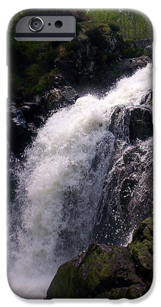 R. Mclellan Photography iPhone Cases - Highland Waterfall iPhone Case by R McLellan