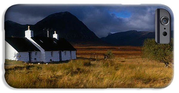 Storm iPhone Cases - Highlands Cottage, Glencoe, Scotland iPhone Case by Panoramic Images