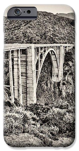 Bixby Bridge iPhone Cases - Highway 1 iPhone Case by Heather Applegate