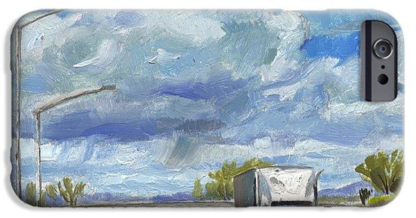 John Stewart iPhone Cases - Highway 5 Trucks iPhone Case by John Norman Stewart