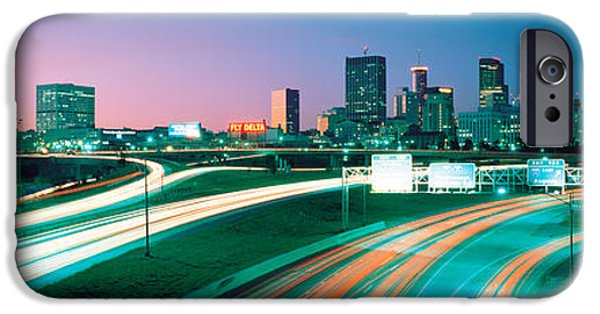 Ga iPhone Cases - Highway Atlanta Ga Usa iPhone Case by Panoramic Images