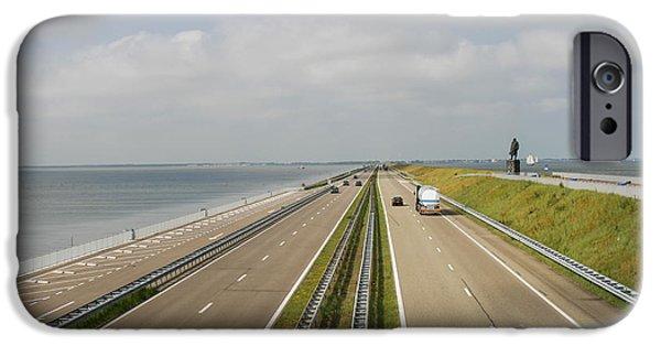 North Sea iPhone Cases - Highway between seas iPhone Case by Patricia Hofmeester