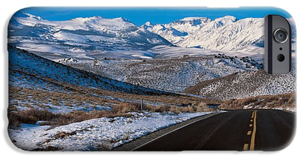 Grey Clouds Photographs iPhone Cases - Highway Ca Usa iPhone Case by Panoramic Images