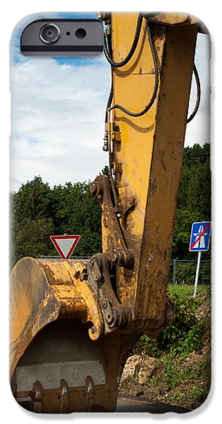 Recently Sold -  - Machinery iPhone Cases - Highway Construction iPhone Case by Frank Gaertner