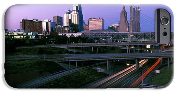 Connection iPhone Cases - Highway Interchange And Skyline iPhone Case by Panoramic Images