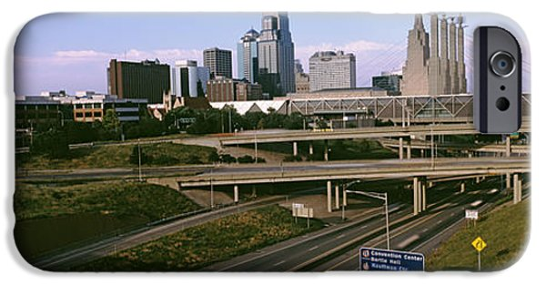 Connection iPhone Cases - Highway Interchange, Kansas City iPhone Case by Panoramic Images