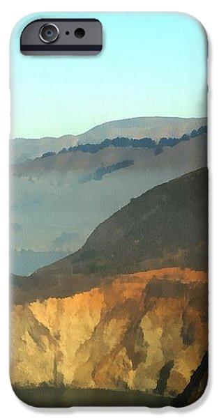 Highway One Bixby Bridge Watercolor iPhone Case by Barbara Snyder