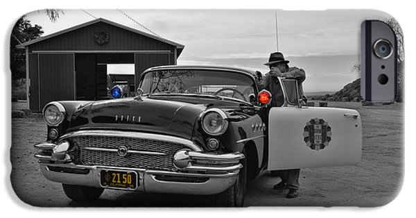 1955 Movies Photographs iPhone Cases - Highway Patrol 5 iPhone Case by Tommy Anderson