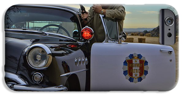 1955 Movies Photographs iPhone Cases - Highway Patrol 6 iPhone Case by Tommy Anderson