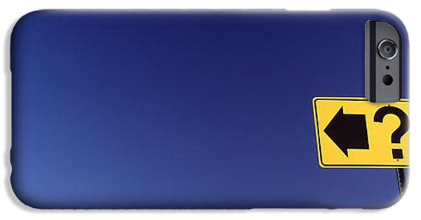 Sign iPhone Cases - Highway Sign iPhone Case by Panoramic Images