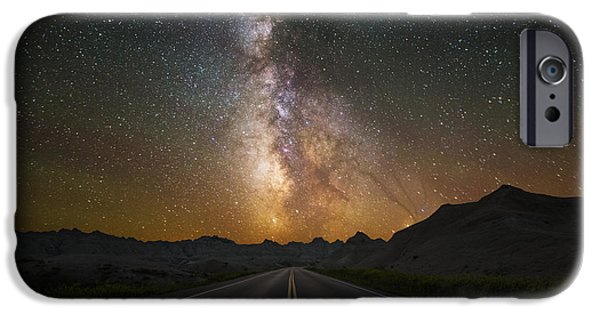Badlands iPhone Cases - Highway to Heaven iPhone Case by Aaron J Groen