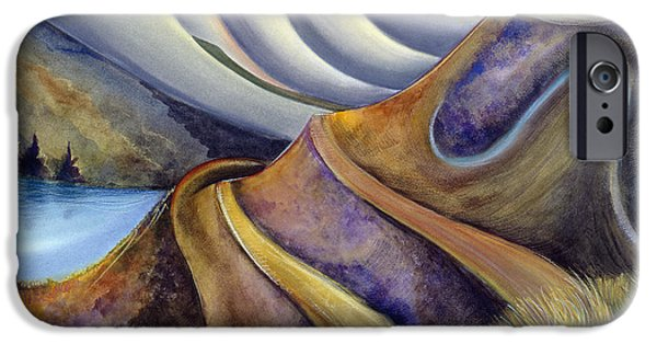 Half Moon Bay iPhone Cases - Highway with Fog iPhone Case by Jen Norton