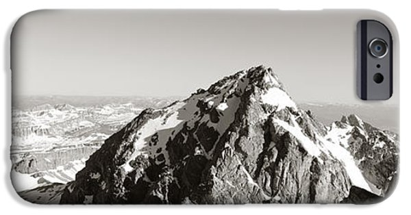 Success Photographs iPhone Cases - Hiker, Grand Teton Park, Wyoming, Usa iPhone Case by Panoramic Images