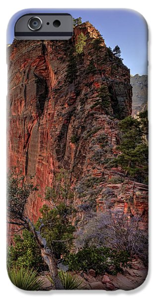 Red Rock iPhone Cases - Hiking Angels iPhone Case by Chad Dutson