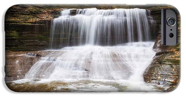 Buttermilk Falls iPhone Cases - Hiking Buttermilk Falls  iPhone Case by Michael Ver Sprill