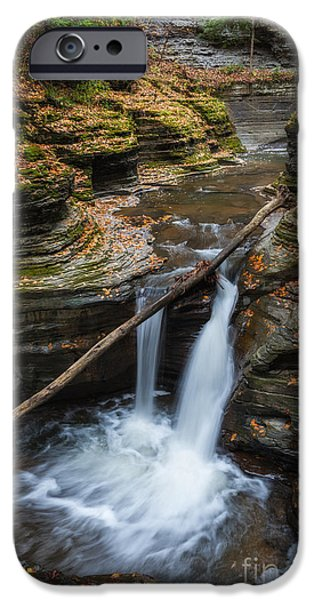 Buttermilk Falls iPhone Cases - Hiking Buttermilk Falls NY  iPhone Case by Michael Ver Sprill