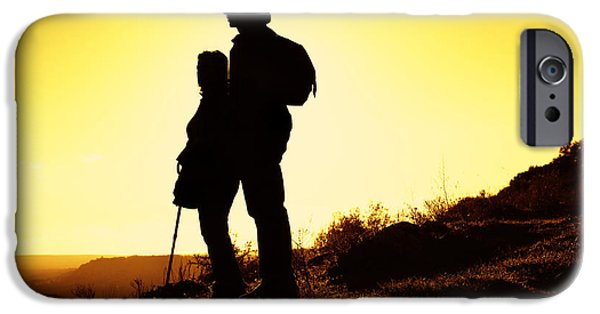Activity iPhone Cases - Hiking Couple iPhone Case by Carlos Caetano