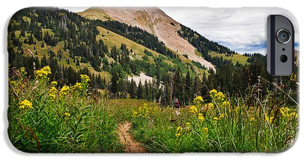 Meadow Photographs iPhone Cases - Hiking in La Sal iPhone Case by Adam Romanowicz
