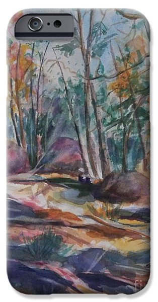 Fall iPhone Cases - Hiking to a Vision iPhone Case by Ellen Levinson
