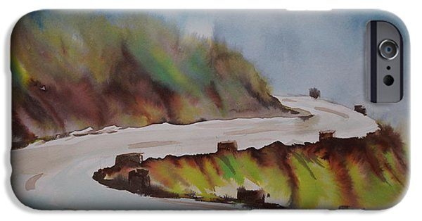 Rainy Day iPhone Cases - Hill Road in Rains iPhone Case by Prashant Dusane