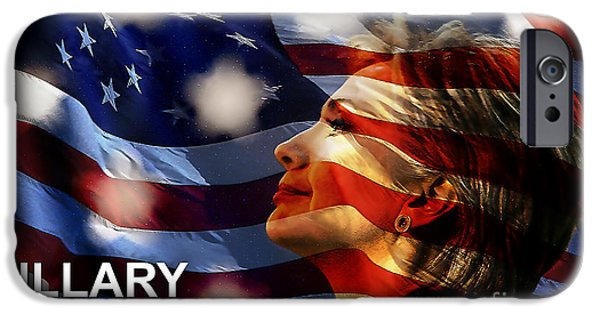 Hillary Clinton iPhone Cases - Hillary 2016 iPhone Case by Marvin Blaine
