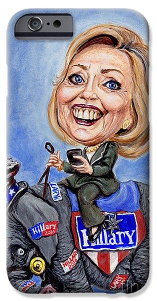 Hillary Clinton iPhone Cases - Hillary Clinton 2016 iPhone Case by Mark Tavares