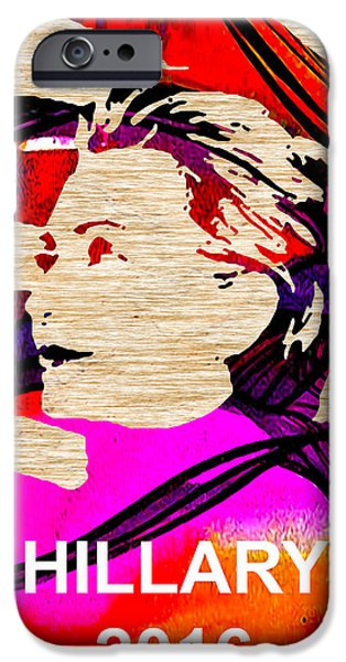 Hillary Clinton 2016 iPhone Case by Marvin Blaine