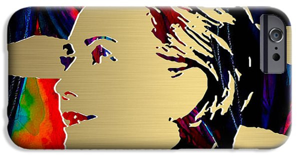 Hillary Clinton iPhone Cases - Hillary Clinton Gold Series iPhone Case by Marvin Blaine