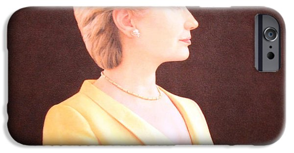 Hillary Clinton iPhone Cases - Hillary Rodham Clinton Up Close iPhone Case by Cora Wandel