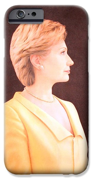 Hillary Rodham Clinton Up Close iPhone Case by Cora Wandel
