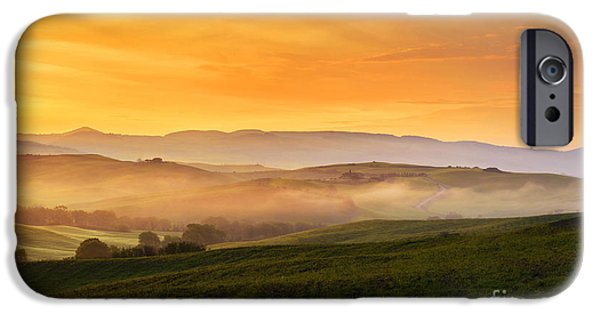 Tuscan Hills iPhone Cases - Hills and fog iPhone Case by Yuri Santin