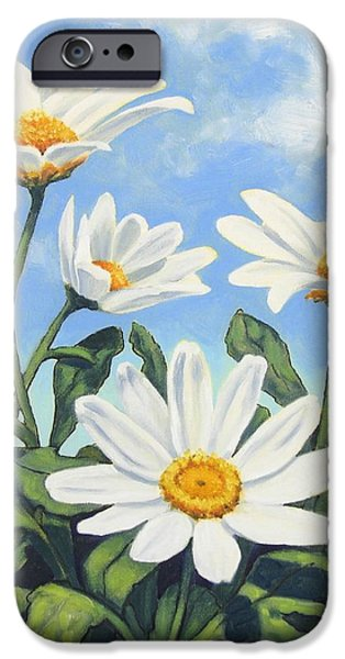 Hills and White Daisies iPhone Case by James Derieg