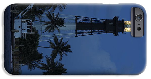 Morning iPhone Cases - Hillsboro Lighthouse - The Blue Hour iPhone Case by Michael  Wolf