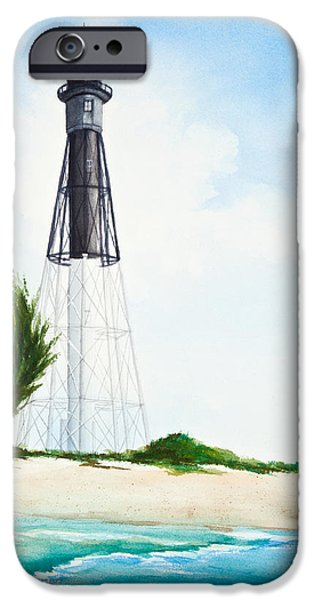 Michelle iPhone Cases - Hillsboro Point Inlet Florida Lighthouse iPhone Case by Michelle Wiarda