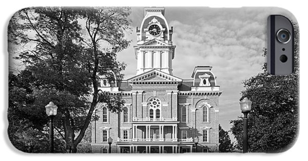 Honorarium iPhone Cases - Hillsdale College Central Hall iPhone Case by University Icons