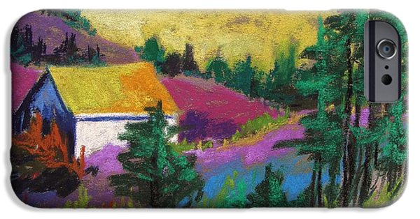 Jmw Pastels iPhone Cases - Hillside House iPhone Case by John  Williams