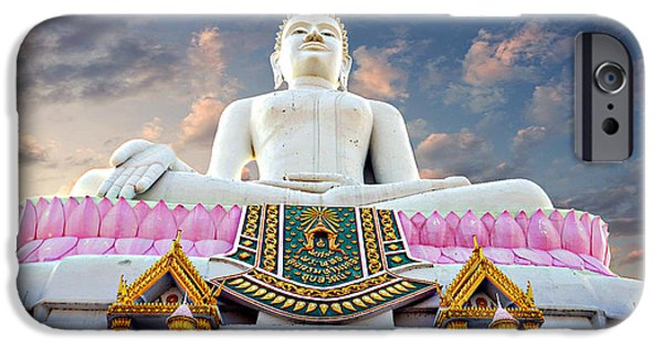 Buddhist iPhone Cases - Hilltop Buddha iPhone Case by Ian Gledhill