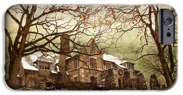Mansion iPhone Cases - Hilltop Holiday Home iPhone Case by Jessica Jenney