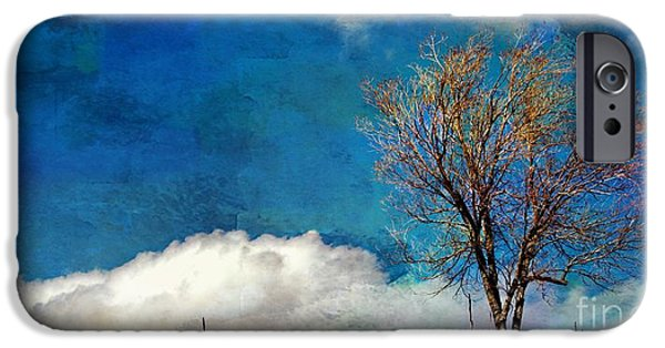 Las Cruces Digital iPhone Cases - Hilltop Tree iPhone Case by Barbara Chichester