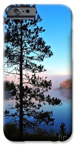 Hilltop View of Stoneledge Lake iPhone Case by Terri Gostola