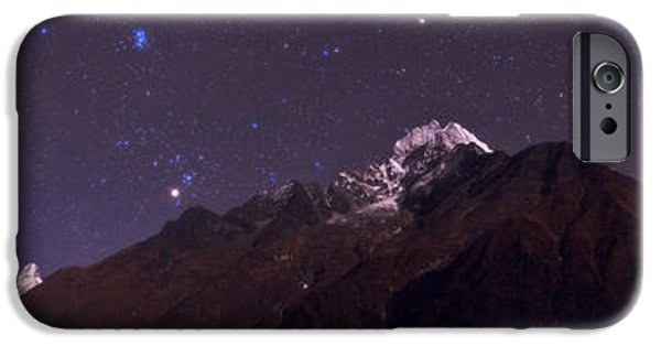 Constellations iPhone Cases - Himalayas At Night iPhone Case by Babak Tafreshi