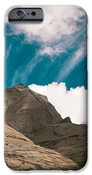 Himalyas mountains in Tibet with clouds iPhone Case by Raimond Klavins