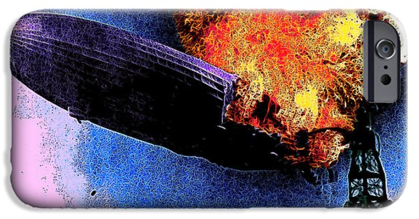 Infamous iPhone Cases - Hindenburg 20130605 iPhone Case by Wingsdomain Art and Photography