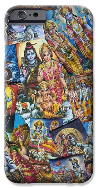 Hindu Goddess iPhone Cases - Hindu Deity Posters iPhone Case by Tim Gainey