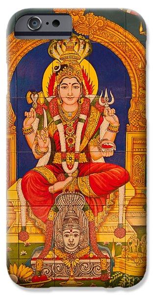 Hindu God iPhone Case by Niphon Chanthana