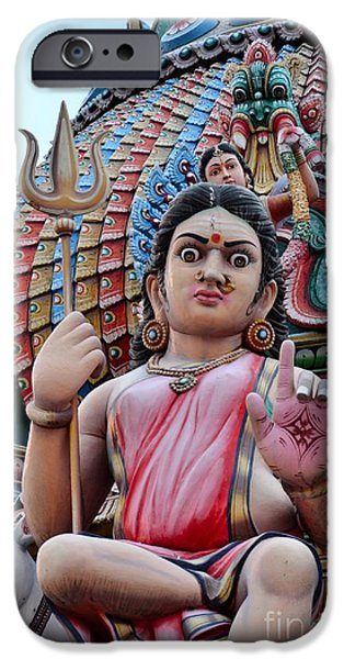 Hindu Goddess iPhone Cases - Hindu goddess at colorful temple iPhone Case by Imran Ahmed