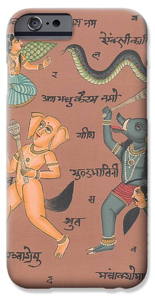 Hindu Goddess Paintings iPhone Cases - Hindu Goddess Durga Tantric Artwork Painting Art Gallery India NOVICA  Traditional  iPhone Case by A K Mundhra