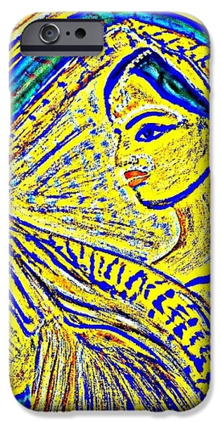 Parvati Paintings iPhone Cases - Hindu Goddess Wedding iPhone Case by Sevi Na
