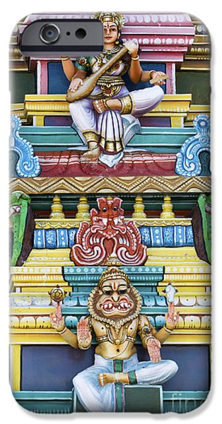 Hindu Goddess iPhone Cases - Hindu Temple Deity Statues iPhone Case by Tim Gainey