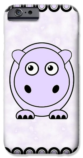 Small iPhone Cases - Hippo - Animals - Art for Kids iPhone Case by Anastasiya Malakhova